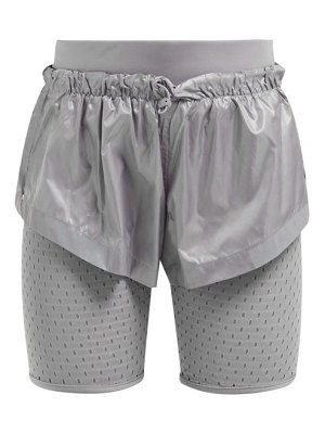 adidas by Stella McCartney run mesh panel performance shorts