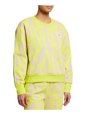 adidas by Stella McCartney Animal-Print Drop-Shoulder Sweatshirt