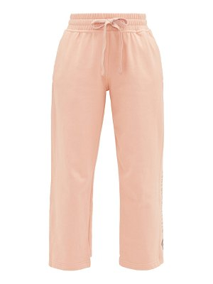 adidas by Stella McCartney cropped cotton-jersey track pants