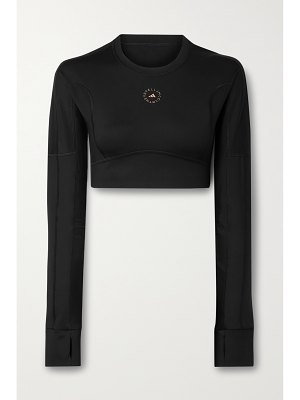 adidas by Stella McCartney cropped cutout recycled stretch top