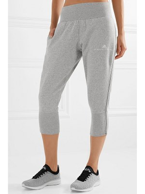 adidas by Stella McCartney essentials cropped organic cotton-blend track pants
