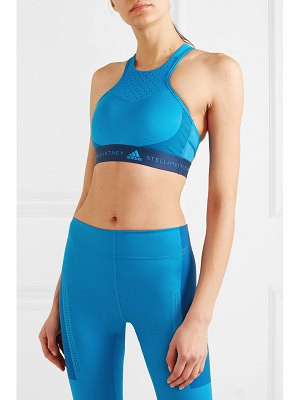 adidas by Stella McCartney fitsense mesh-paneled climalite sports bra