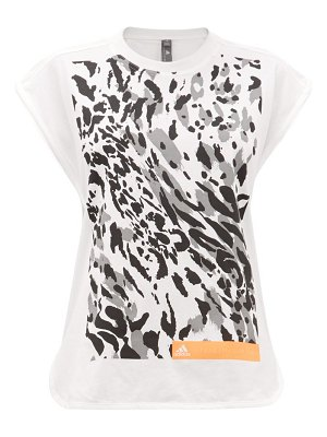 adidas by Stella McCartney graphic leopard print cotton blend vest