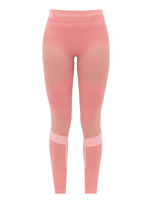 adidas by Stella McCartney high-rise panelled stretch-knit leggings