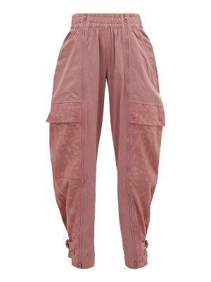 adidas by Stella McCartney leopard-jacquard buckled-ankle track pants