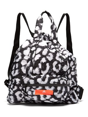 adidas by Stella McCartney leopard print bungee top gym sack