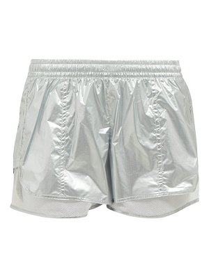 adidas by Stella McCartney metallic nylon performance shorts