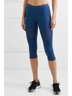 adidas by Stella McCartney parley for the oceans performance essentials cropped mesh-paneled climalite leggings