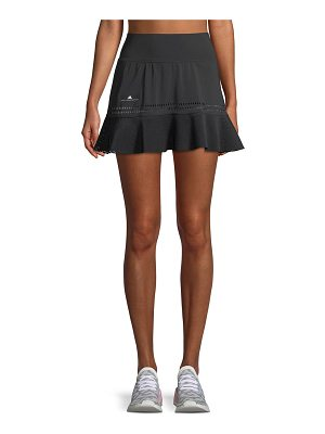 adidas by Stella McCartney Perforated High-Rise Flounce Performance Skirt