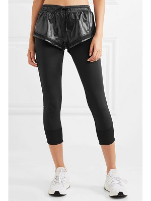 adidas by Stella McCartney performance essentials layered glossed-shell and stretch leggings