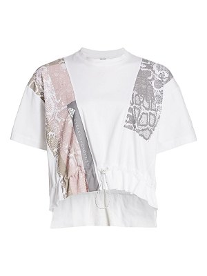 adidas by Stella McCartney python patchwork graphic tee