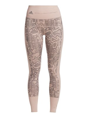 adidas by Stella McCartney python-print leggings