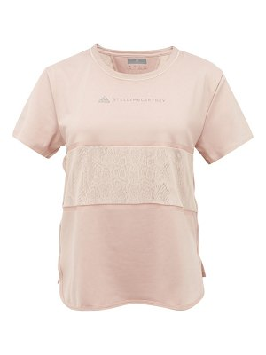 adidas by Stella McCartney snake-print panel technical t-shirt