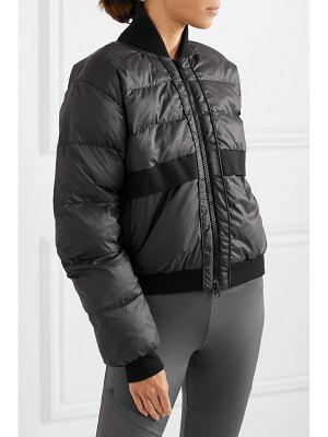 adidas by Stella McCartney snake-print quilted shell jacket