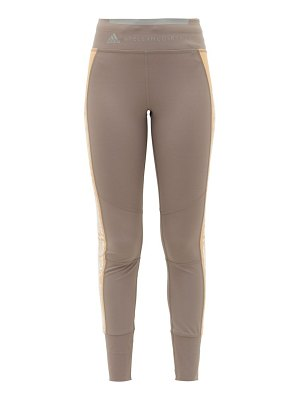 adidas by Stella McCartney snake-print side-stripe leggings