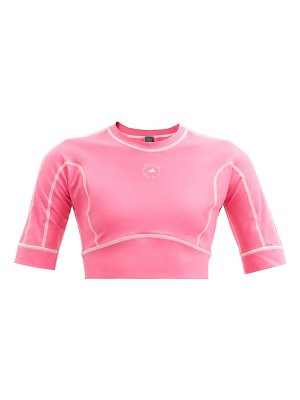 adidas by Stella McCartney truestrength recycled-fibre blend cropped top