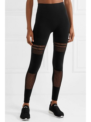 adidas by Stella McCartney warp knit laser-cut stretch leggings