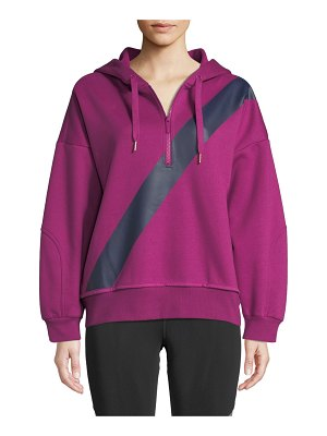 adidas by Stella McCartney Yoga Comfort Striped Quarter-Zip Hoodie