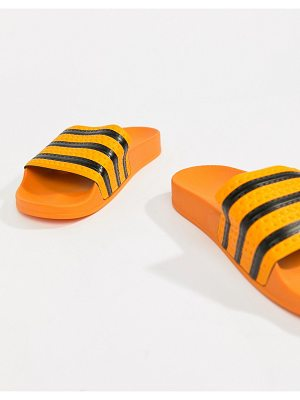 adidas Originals Adilette Slider Sandals In Orange