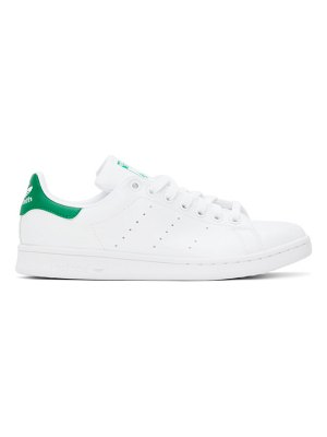 adidas Originals and green stan smith sneakers