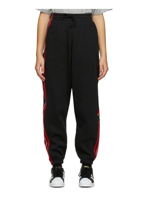 adidas Originals black adicolor 3d trefoil track pants