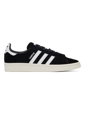 adidas Originals black nubuck campus sneakers