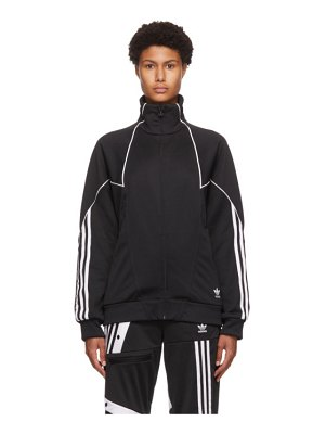 adidas Originals black trefoil abstract track jacket