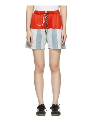 adidas Originals by Alexander Wang red photocopy shorts