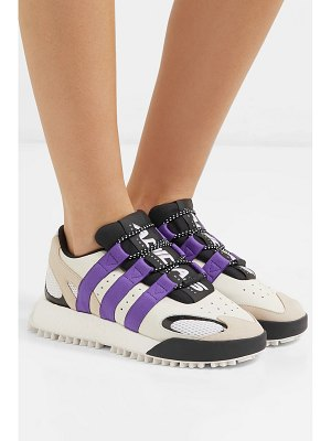 adidas Originals by Alexander Wang wangbody run mesh, suede and leather sneakers - off-white