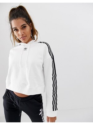adidas Originals cropped hoodie in white