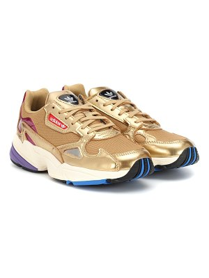 adidas Originals Falcon leather-trimmed sneakers