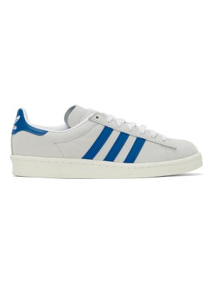 adidas Originals grey nubuck 80s campus sneakers