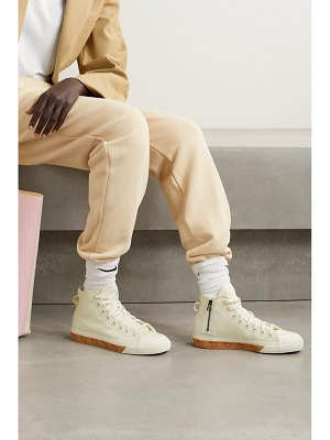 adidas Originals human made nizza hi rubber-trimmed canvas high-top sneakers - off-white