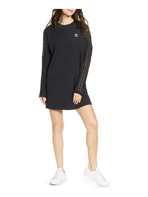 adidas Originals lace stripe long sleeve t-shirt dress
