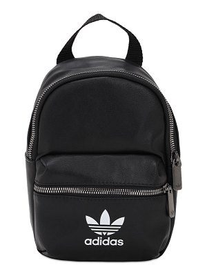 adidas Originals Logo faux leather backpack