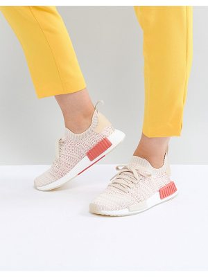 adidas Originals NMD R1 Stealth Primeknit Sneakers In Off White