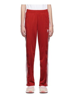 adidas Originals red firebird track pants