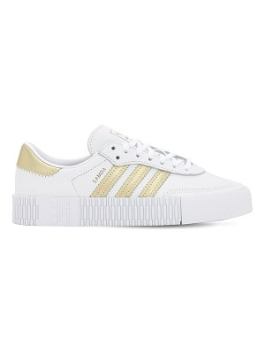 adidas Originals Sambarose w leather sneakers