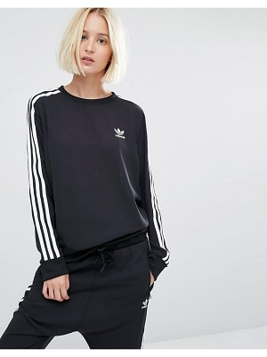 adidas Originals three stripe chiffon sweatshirt-black