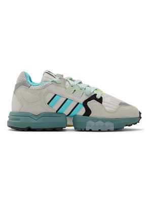 adidas Originals white and grey zx torsion sneakers
