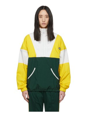 adidas Originals yellow and green samstag track sweater