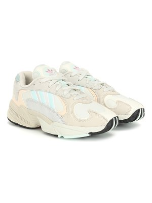adidas Originals yung-1 leather and mesh sneakers