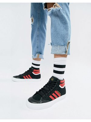 Adidas Skateboarding adidas Originals Matchcourt High Rx2 Sneakers In Black
