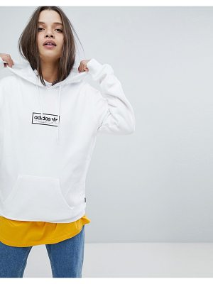 Adidas Skateboarding adidas Skateboarding Hoodie In White With Central Logo