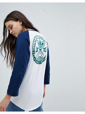 Adidas Skateboarding adidas Skateboarding Oversized Raglan Long Sleeve T-Shirt With Logo