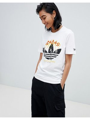 Adidas Skateboarding adidas skateboarding oversized t-shirt with printed trefoil
