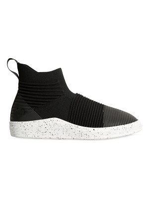 ADNO Rib & knit slip-on mid top sneakers