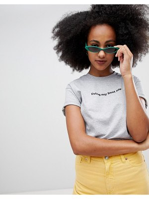 Adolescent Clothing living my best life t-shirt