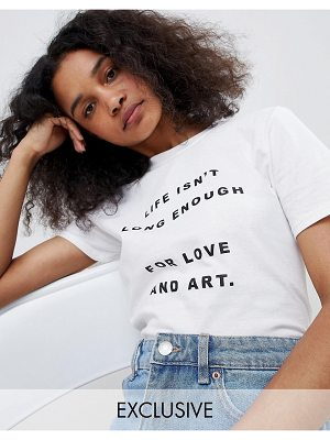 Adolescent Clothing t-shirt with love and art slogan
