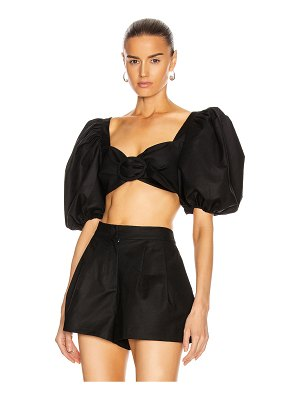 ADRIANA DEGREAS cropped blouse